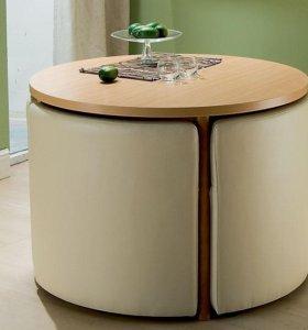 Комплект Стол круглый с банкетками