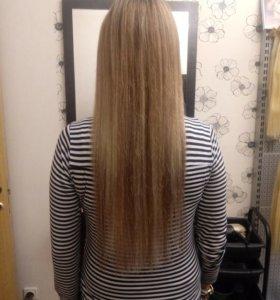 Микрокапсульное наращивание волос.