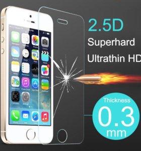 Защитное стекло на iPhone 5/5c/5s/SE