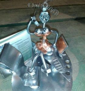 Металический фигуры, статуэтки