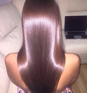 Кератиновое выпрямление волос,ботокс,нанопластика