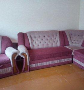 Мягкий уголок с креслом-кроватью