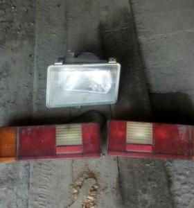 Задние фонари и фара москвич 2141