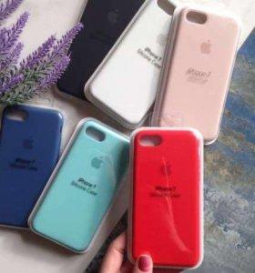 Оригинал силиконовый чехол на айфон 7