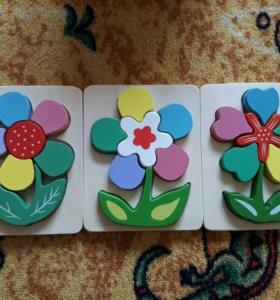 Пазлы.цветок.