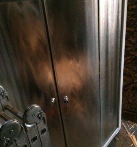 Раздвижные двери для угловой душевой кабины