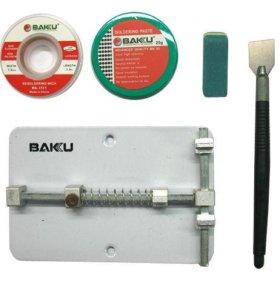 Зажим плат BAKU BK689A +оплетка(2шт)+резинка
