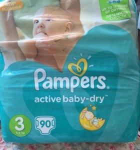 Подгузники pampers active baby dry