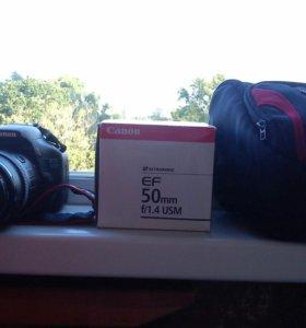 Canon EOS 550d + 2 обьектива