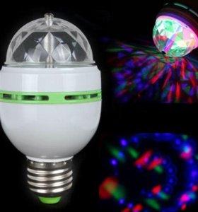 Праздничная LED лампа вращающийся свет