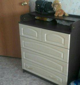 Комод с пеленатором - 3200 + кроватка/матрас -2800