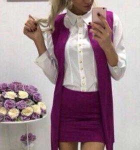 Костюм ( жилетка+юбка)