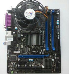 Материнская плата MSI G41M-P33 Combo +процессор