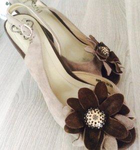 Туфли-босоножки из натуральной замши 👠