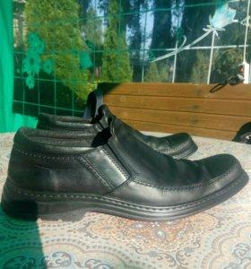 Туфли кожаные мужские Б/У