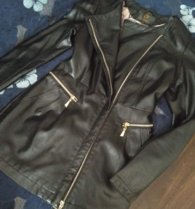 курка-пиджак из кож зама, б/у, 40 размер
