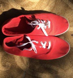 кеды красные размер 39-40