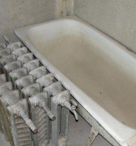 чугунная ванна и батареи б/у