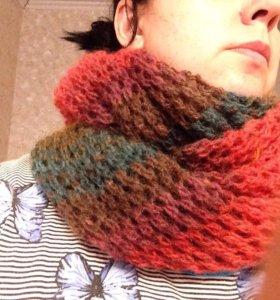 Вязаные снуды и шарфы