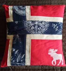 "Подушка ""Норвегия"" ручная работа"