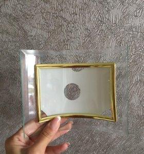 Фоторамка стеклянная для фото 10 на 15