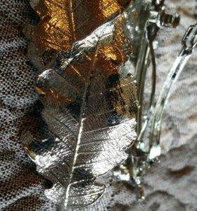 Заколки и резинки из натуральных листьев