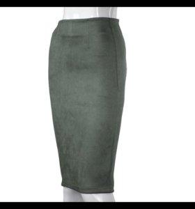 Новые юбки замша