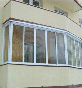 Балконы металлопластиковые.