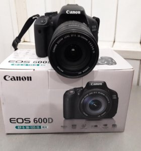 Фотоаппарат зеркальный Canon EOS 600D Kit 18-135