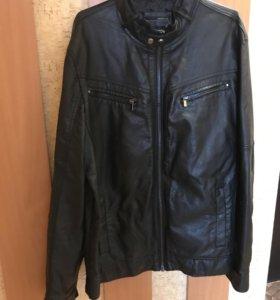 Чёрная Кожаная куртка Celio club XL
