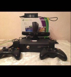Xbox 360(4Gb) +Kinect+2 джойстика+игры