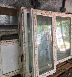 Пластиковые окна и балконная дверь