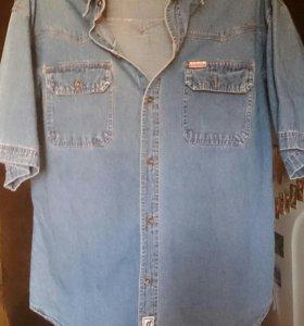 Джинсовая рубашка 50-52