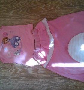 Вещи для девочки пакетом от 6 месяцев до года