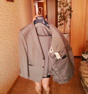 Пиджак серый/50-52