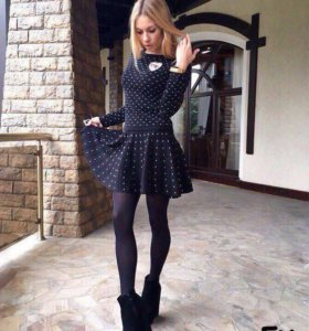 Костюм юбка и кофта с брошью Chanel