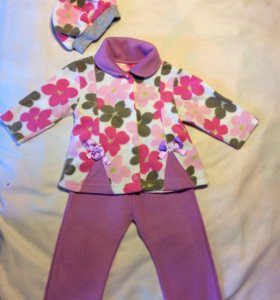 Флисовый костюм с беретом