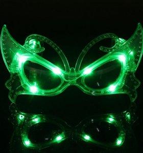 Светодиодные очки-бабочка