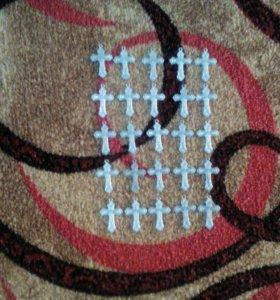 Крестики сплав,цветной металл ,25 штук