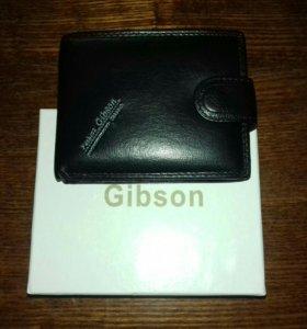 Кожаный мужской кошелёк фирмы Gibson