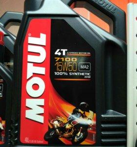 Масло для мотоцикла моторное Motul 7100 15W-50 4L