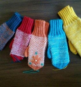 Вязаные носки и варежки!!!