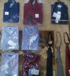 Школьные рубашки и галстуки