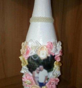 Праздничные бутылки,вазы