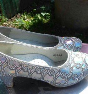 Туфли золушки32 размер