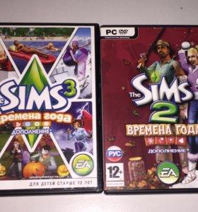 "Игры на ПК Sims 3/2 ""Времена года """