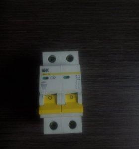 Автоматические выключатели IEK 2Р 16-63А хар.С