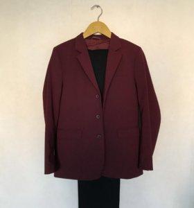 """Бордовый школьный пиджак """"Старт"""" + штаны"""