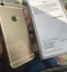 iPhone 6 16 гб золотой , оригинал