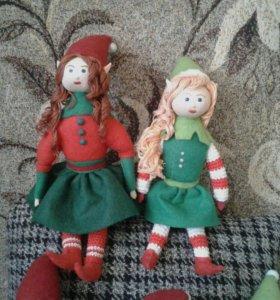 Маленькие куклы эльфы